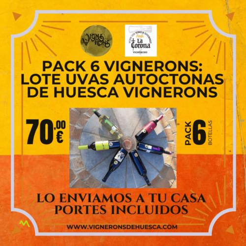 Pack 6 Vignerons: LOTE UVAS AUTOCTONAS DE HUESCA VIGNERONS