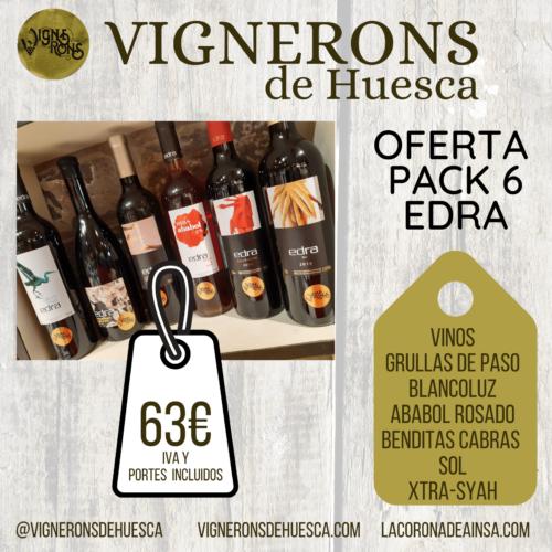 Oferta Pack 6 Vinos Edra Vignerons de Huesca