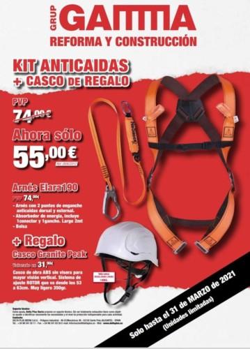 Kit anticaídas + Casco de REGALO