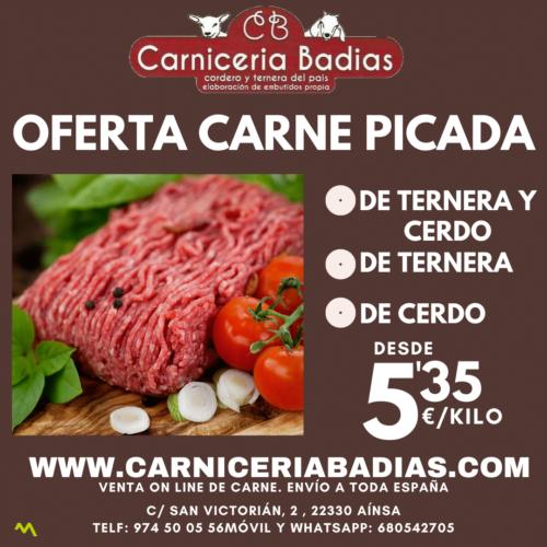 OFERTA carne picada de Ternera y Cerdo (1kg)