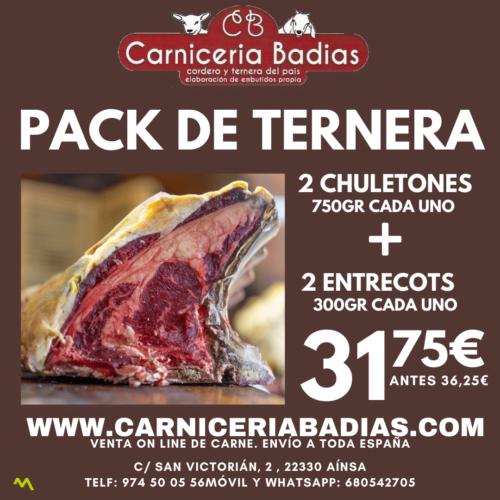 Pack de Ternera Chuleton + Entrecot