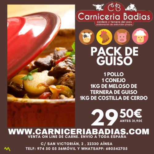 Pack de Guiso: Pollo, Conejo, ternera y cerdo