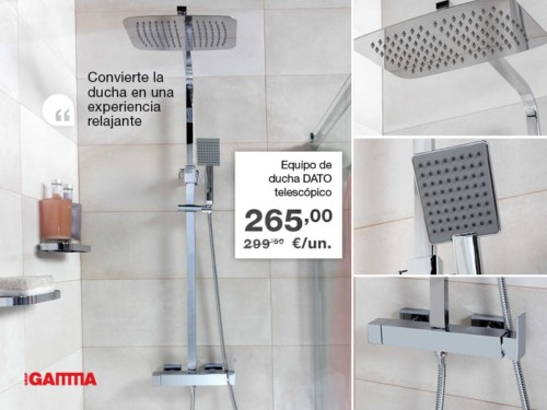 EQUIPO DATO DE DUCHA CROMO TELESCÓPICO