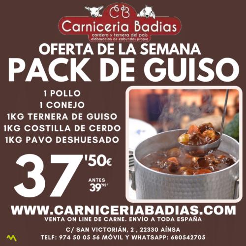 Oferta Pack de Guiso: Pollo, Conejo, Ternera, Cerdo y Pavo