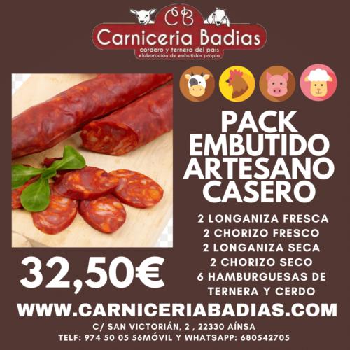 Pack Embutido Casero Artesano Carnicería Badías
